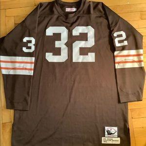 Cleveland Browns #32 Throwback Jersey Men 56